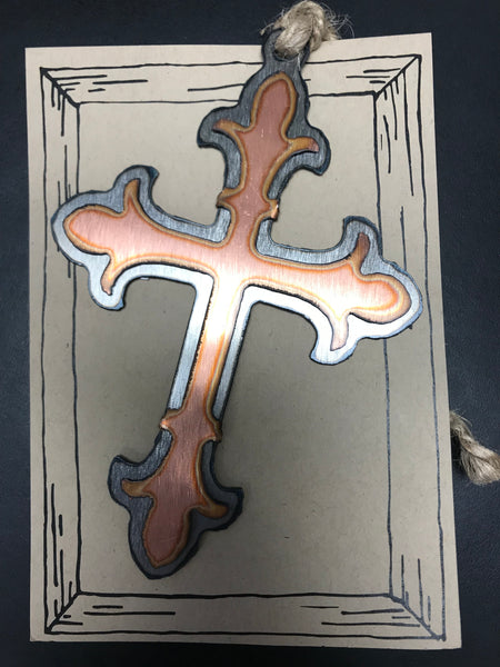Baroque Cross Ornament