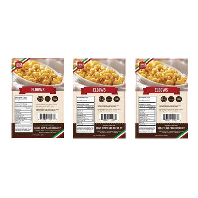Great Low Carb Pasta Elbows - 3-Pack - Pasta