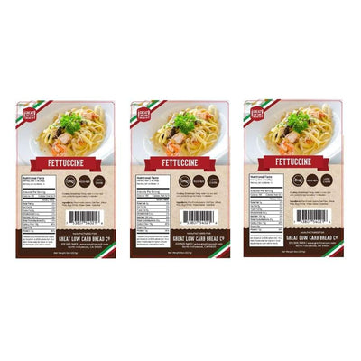 Great Low Carb Pasta Fettuccine - 3-Pack - Pasta