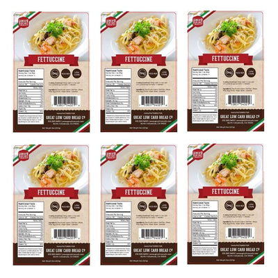 Great Low Carb Pasta Fettuccine - 6-Pack - Pasta