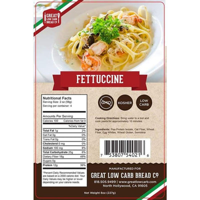 Great Low Carb Pasta Fettuccine - One Pack - Pasta