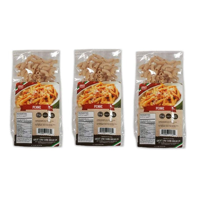 Great Low Carb Pasta Penne - 3-Pack - Pasta
