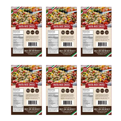 Great Low Carb Pasta Rice (Orzo) - 6-Pack - Pasta