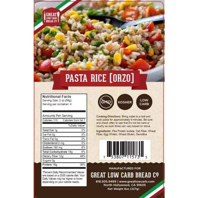 Great Low Carb Pasta Rice (Orzo) - Pasta
