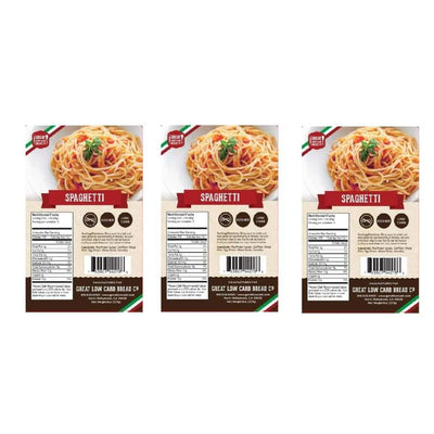 Great Low Carb Pasta Spaghetti - 3-Pack - Pasta