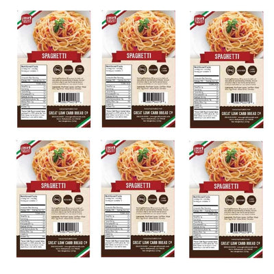 Great Low Carb Pasta Spaghetti - 6-Pack - Pasta
