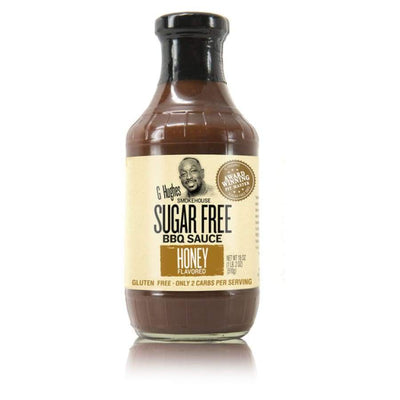 G Hughes' Sugar-Free BBQ Sauce - Honey - One Pack - BBQ Sauce