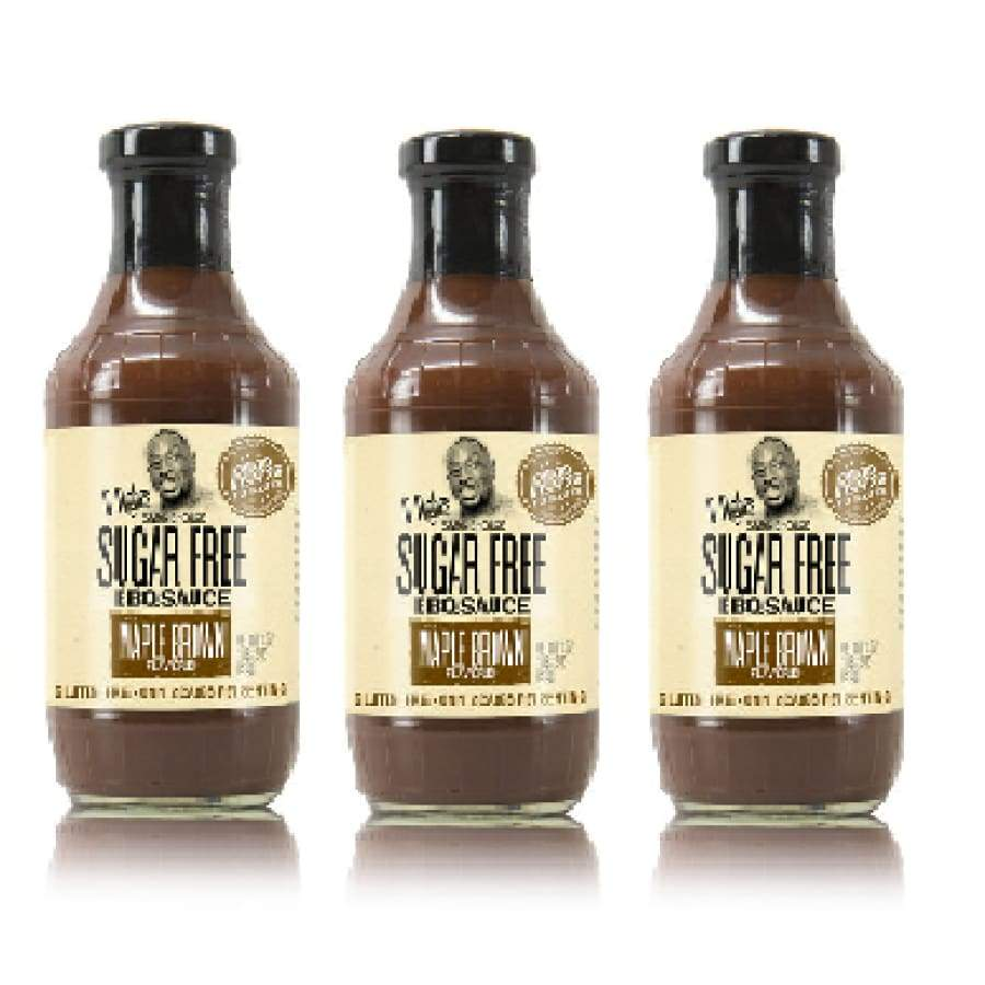 G Hughes' Sugar-Free BBQ Sauce - Maple Brown - One Pack - BBQ Sauce