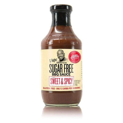 G Hughes' Sugar-Free BBQ Sauce - Sweet & Spicy - One Pack - BBQ Sauce