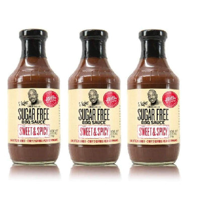 G Hughes' Sugar-Free BBQ Sauce - Sweet & Spicy - 3-Pack - BBQ Sauce