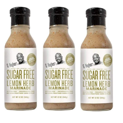 G Hughes' Sugar-Free Marinade - Lemon Herb - 3-Pack - Condiments
