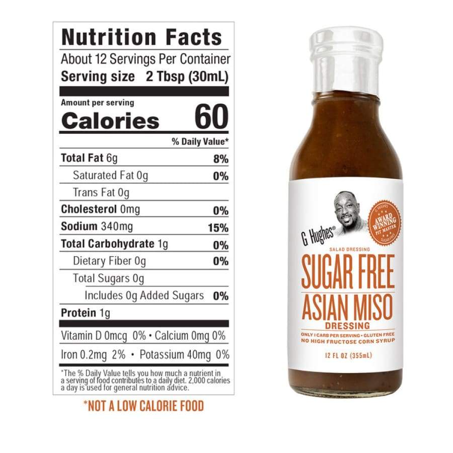 G Hughes' Sugar-Free Salad Dressings - Asian Miso - One Pack - Salad Dressing