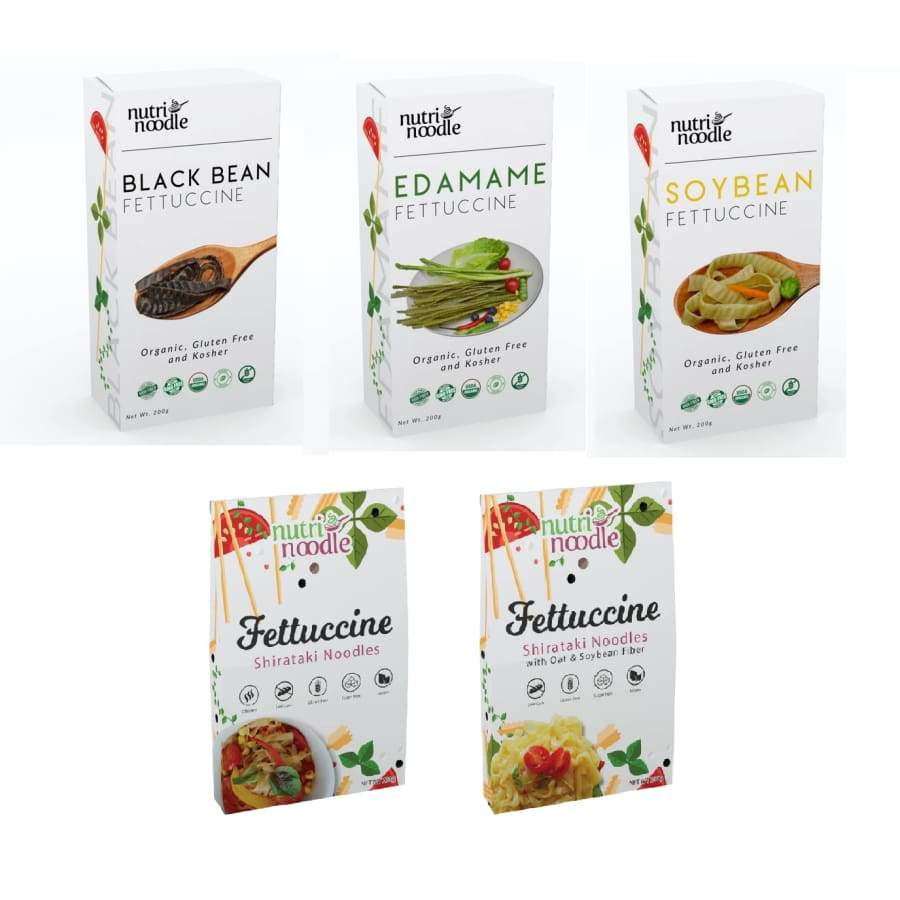 NutriNoodle Fettuccine Pasta - Variety Pack - Pasta