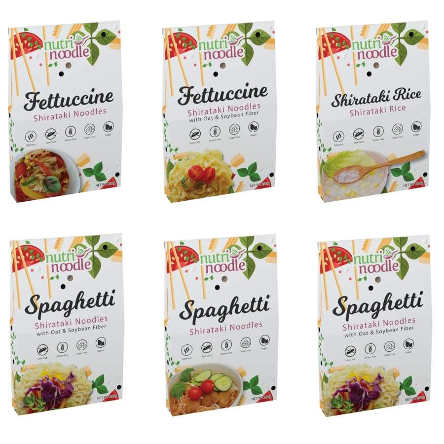 NutriNoodle Shirataki Noodles and Rice - Variety Pack - Pasta
