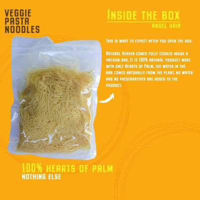 Ready Pasta Angel Hair Hearts of Palm Noodle by Natural Heaven - Pasta