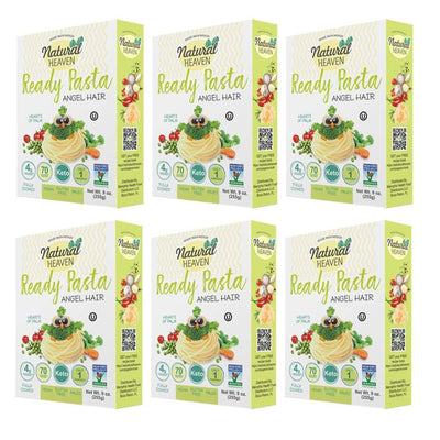 Ready Pasta Angel Hair Hearts of Palm Noodle by Natural Heaven - 6-Pack - Pasta