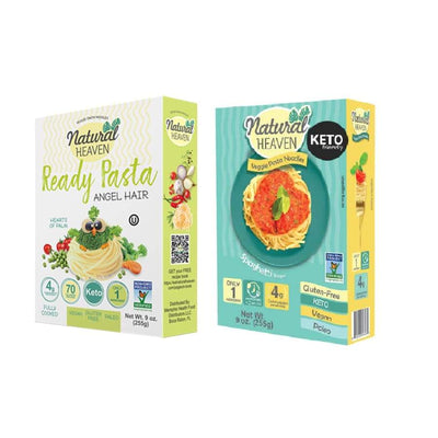 Veggie Pasta Hearts of Palm Noodle by Natural Heaven - Variety Pack - Pasta