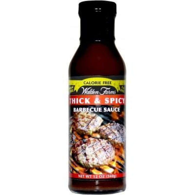 Walden Farms Calorie Free BBQ Sauces - Available in 4 Flavors! - Thick & Spicy / One Pack - BBQ Sauce