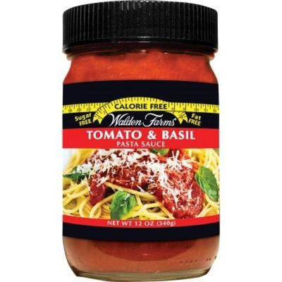 Walden Farms Calorie Free Pasta Sauces - Available in 3 Flavors! - Tomato & Basil - Pasta Sauce