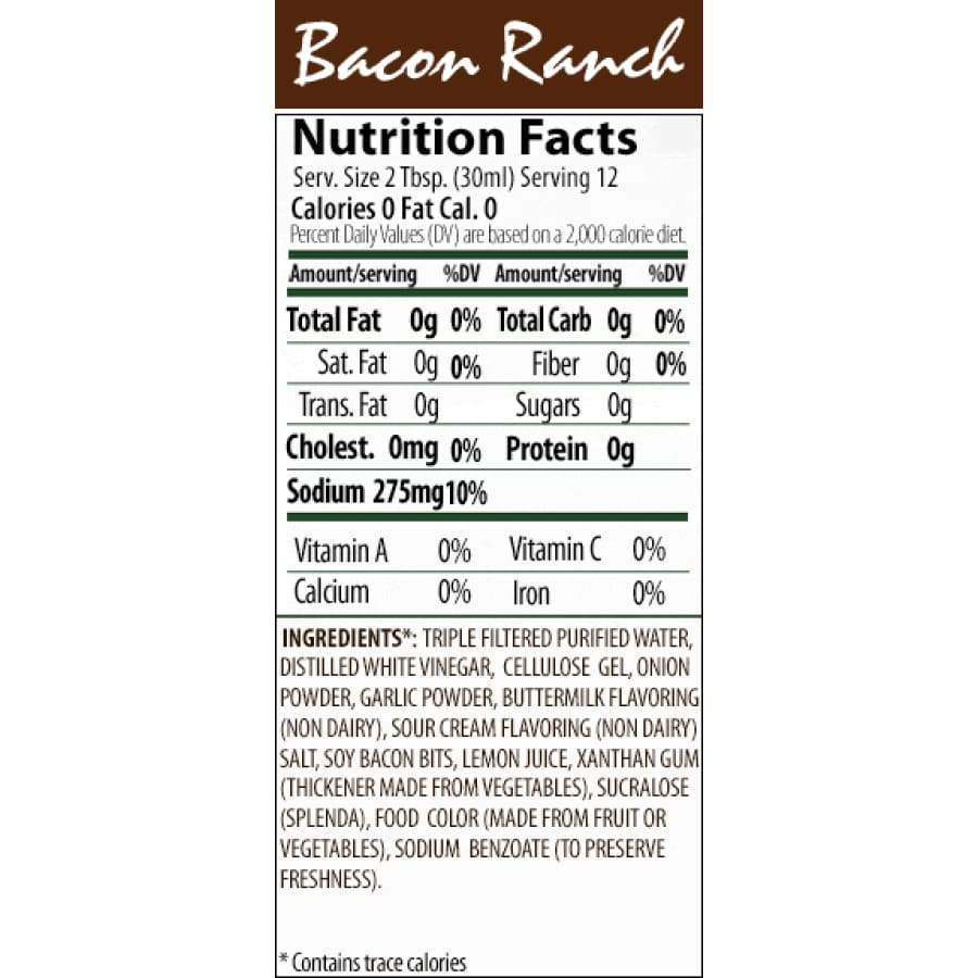 Walden Farms Calorie Free Salad Dressing - Available in 23 Flavors! - Bacon Ranch - Salad Dressing