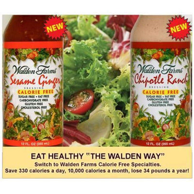 Walden Farms Calorie Free Salad Dressing - Available in 23 Flavors! - Salad Dressing