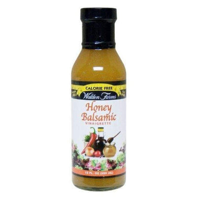 Walden Farms Calorie Free Salad Dressing - Available in 23 Flavors! - Honey Balsamic Vinaigrette - Salad Dressing