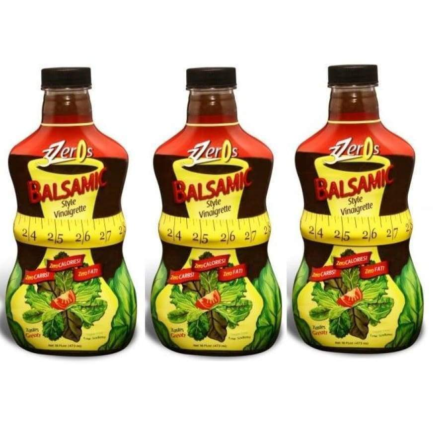3 Zeros Zero Calorie Salad Dressing - Balsamic Style Vinaigrette - One Pack - Salad Dressing