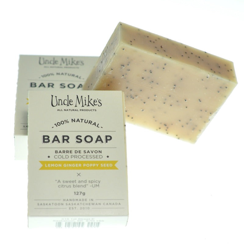 Lemon Ginger Poppy Seed Soap Bar