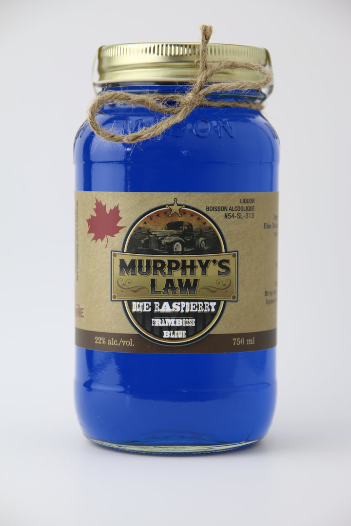 Bottle of Blue Raspberry Moonshine