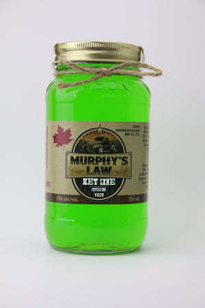 Bottle of Key Lime Moonshine