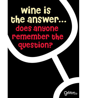 Wine Is the Answer Magnet