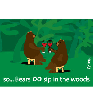 Bears Sip in the Woods Magnet