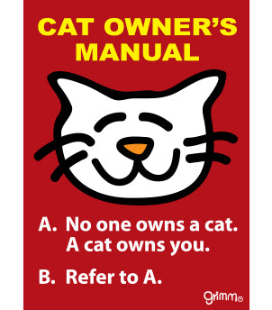Cat Owner's Manual Magnet