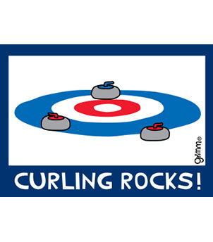 Curling Rocks! Magnet