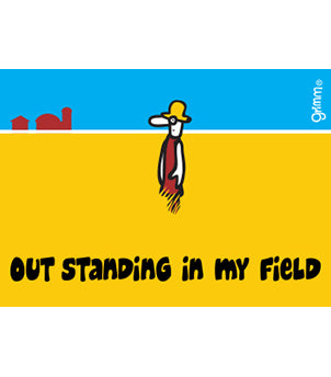 Out Standing in My Field Magnet