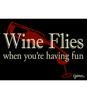 Wine Flies Magnet