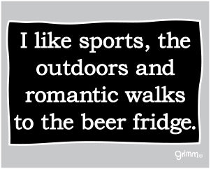 …Walks to the Beer Fridge Magnet
