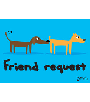 Friend Request Magnet