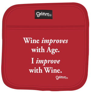 Wine Improves with Age Pot Holder