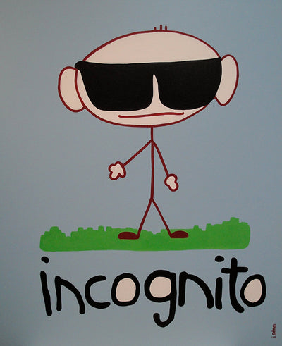 "Incognito Acrylic On Canvas Original 30""x36"""