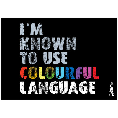 Colourful Language Magnet