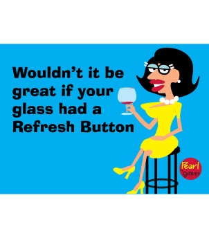 Pearl- Refresh Button Magnet