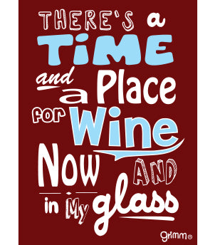 A Time and Place for Wine Magnet