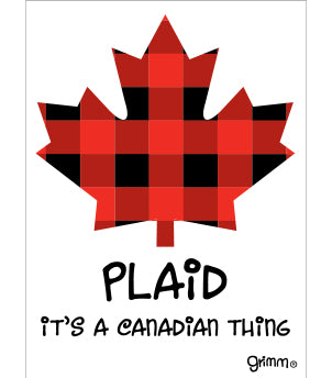 Plaid Magnet