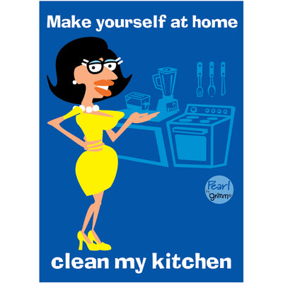 Pearl- Clean My Kitchen  Magnet