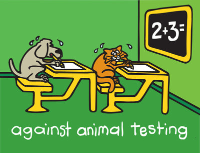"Against Animal Testing. Signed Limited Edition AP Giclee 34"" x 27"""