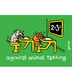 Against Animal Testing Magnet