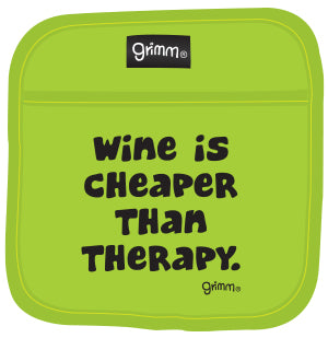 Cheaper Than Therapy (Green) Pot Holder