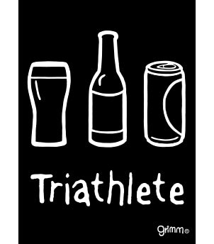 Triathlete (Beer) Magnet