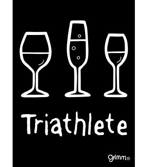 Triathlete (Wine) Magnet